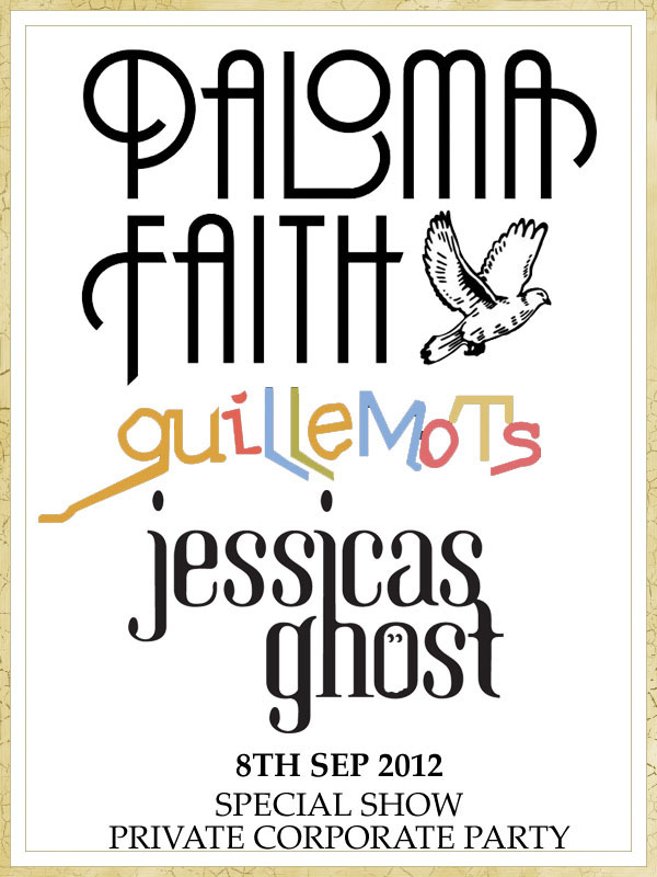 Jessicas Ghost supporting Paloma Faith & Guillemots